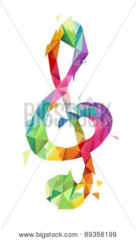 Illustration of Abstract G-Clef Geometric Design