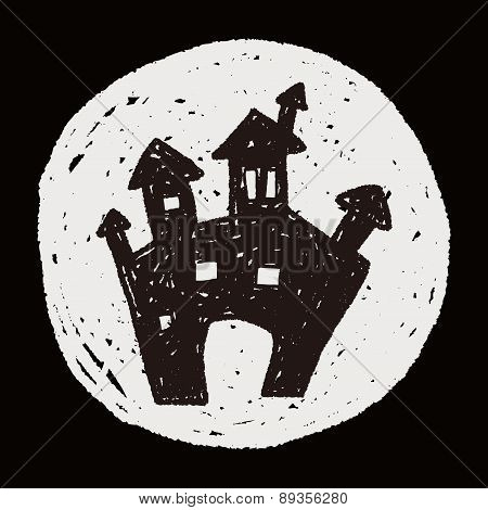 Halloween Castle Doodle