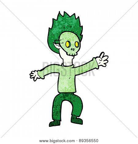 cartoon boy wearing halloween mask