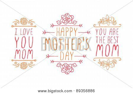 Happy Mothers Day Elements