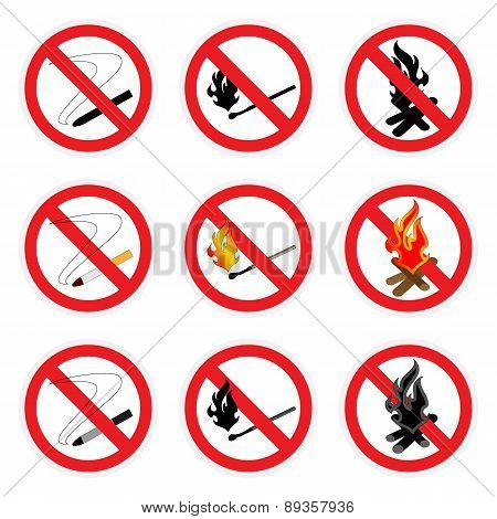 No Fire Sign Set
