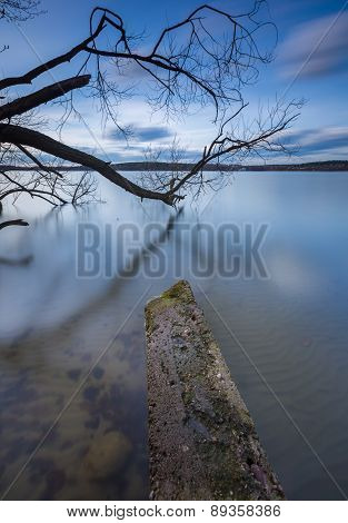 Long Exposure Photo Of Lake Shore