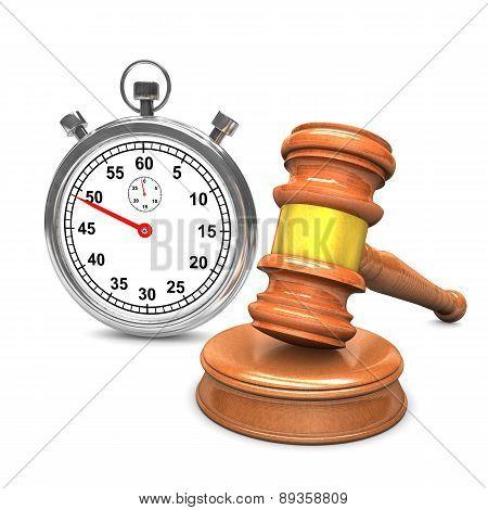 Auction Hammer Stopwatch