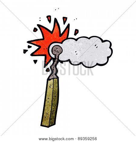 cartoon match smoking