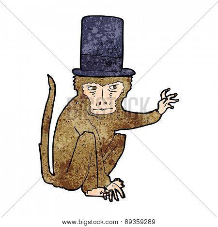 cartoon monkey wearing top hat