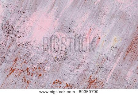 Peeling Pink Paint