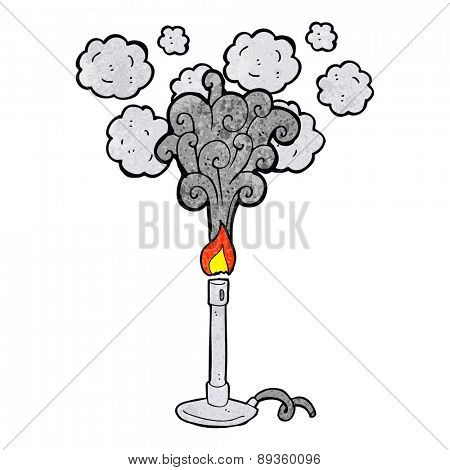 cartoon science bunsen burner