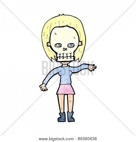 woman,female,girl,spooky,skull,mask