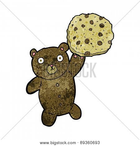 cartoon bear with cookie