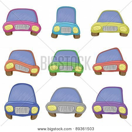 Cartoon, set cars