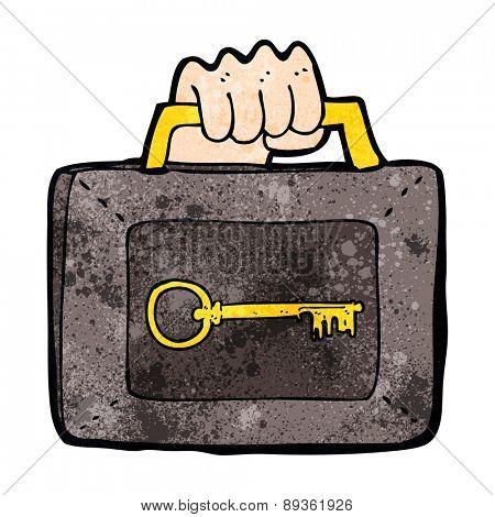 cartoon locked security case