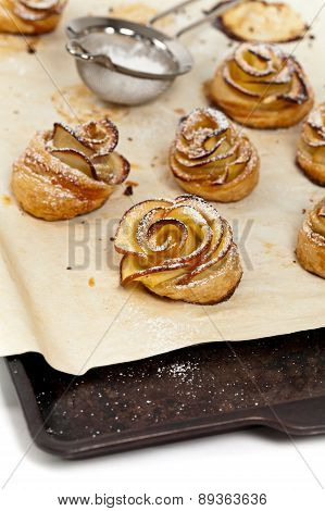Pastry with apple
