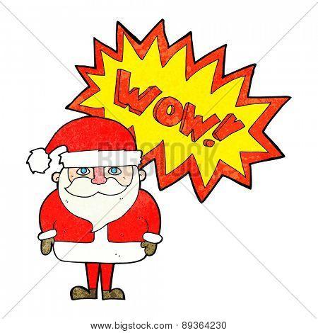cartoon amazed santa claus