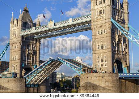 Close-up Of An Open Tower Bridge