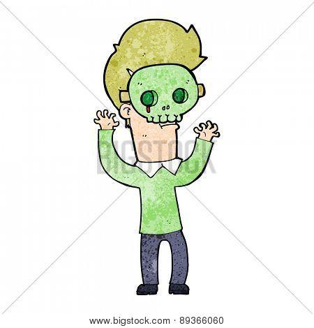 cartoon man in skull mask