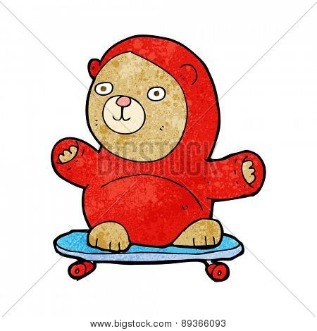 cartoon bear on skateboard