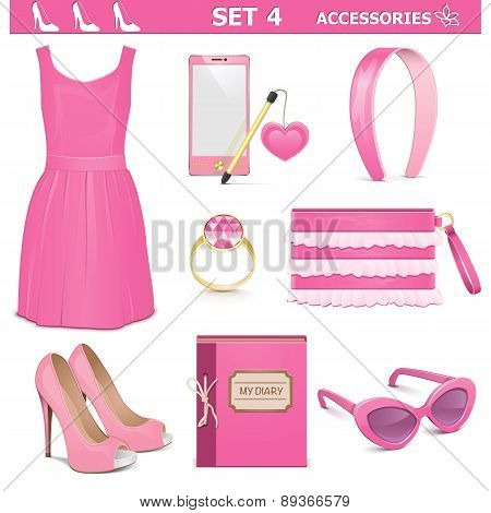 Vector Female Accessories Set