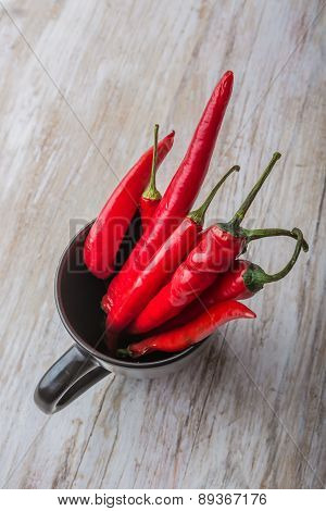 Red Hot Chili Peppers In A Black Cup