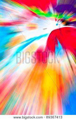 Abstract multicolored background. Rays of colorful light