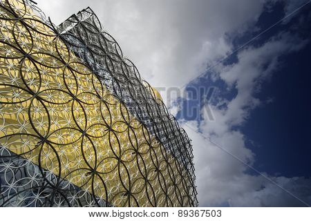 BIRMINGHAM, UNITED KINGDOM - April 29, 2015.- The Library of Birmingham, MECANOO ARCHITECTEN, Centenary Square, Birmingham, England, UK, Western Europe,