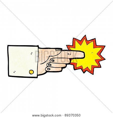 Pointing business hand cartoon