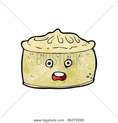 cartoon pie with face