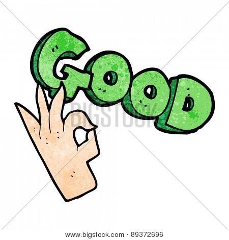 cartoon good symbol with hand