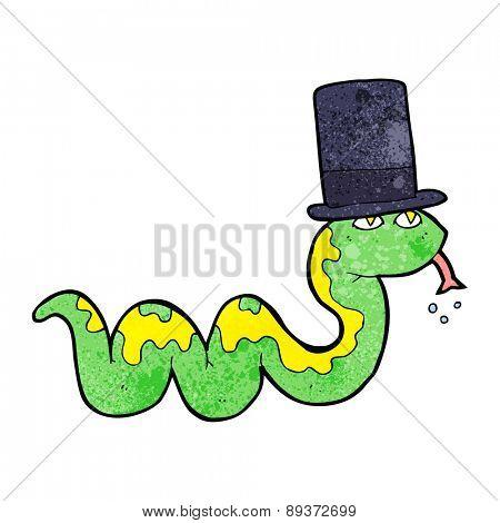 cartoon snake in top hat