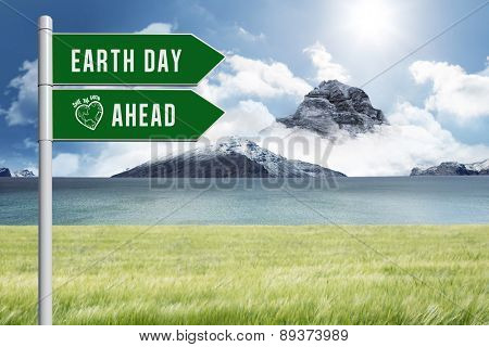 earth day ahead against scenic backdrop