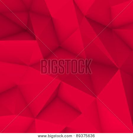 Magenta Abstract Polygonal Background