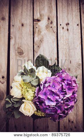 Big bouquet of fresh flowers