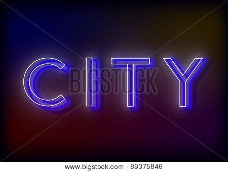 Neon Citi. Citi neon sign.
