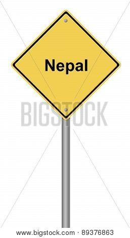 Nepal Warning Sign