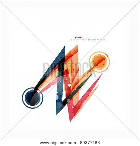 Red and orange color lines composition. Abstract wave background