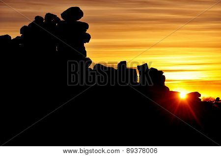 Giant's Playground at Sunset, Keetmanshoop, Namibia, Africa