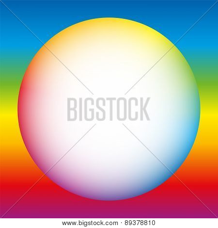 Rainbow Colored Bubble White