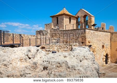 Small Medieval Stone Castle On The Rock, Spain