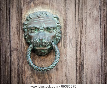 lion doorknocker