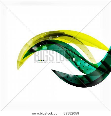 Shiny colorful abstract background, green and blue color. Modern template