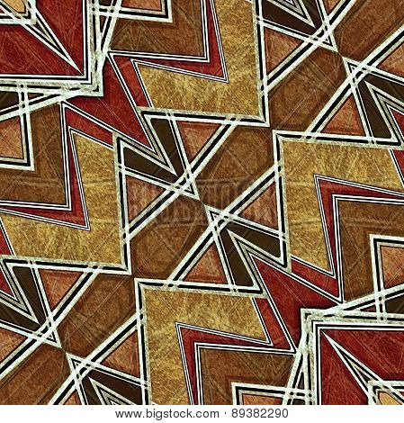 Geometric Modern Pattern In Brown Tones