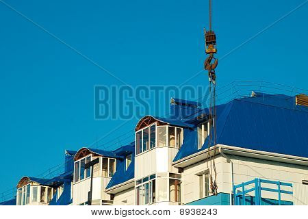Crane Hook And Building
