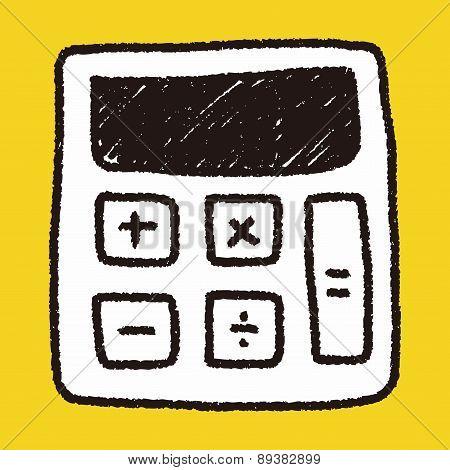 Calculator Doodle Drawing