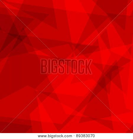 Red star polygon background