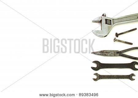 Background Of Building Tools Isolated