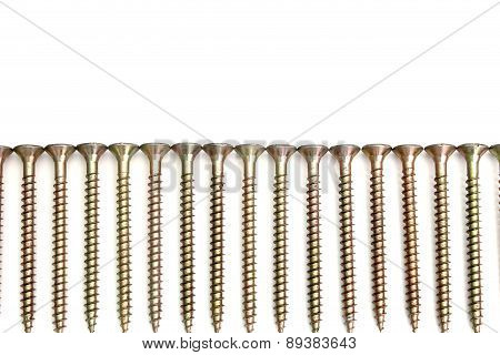 S Bolts Isolated Over White On A White Background