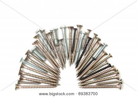 Screw And Bolts Isolated Background