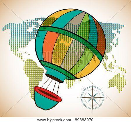 Around the world hot air adventure