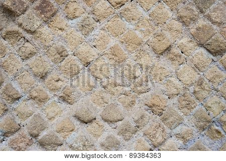 Antique Roman Stone Wall Background