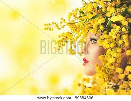Woman mimosa beauty