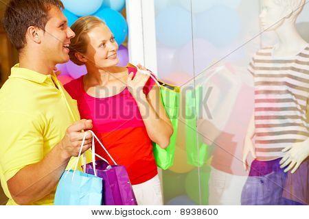 Compradores em Trade Center